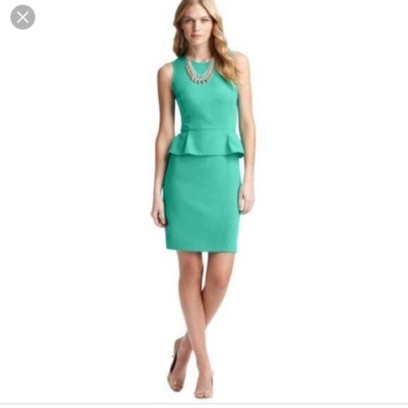 LOFT Dresses & Skirts - Teal peplum dress from the loft.